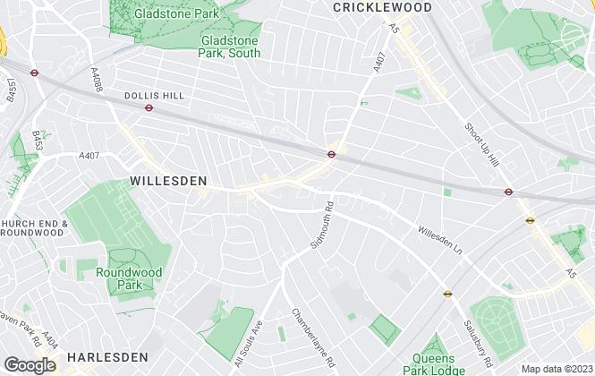 Map for Marsh & Parsons, Willesden Green