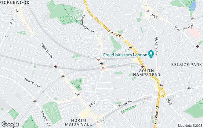 Map for Kinleigh Folkard & Hayward - Lettings, West Hampstead