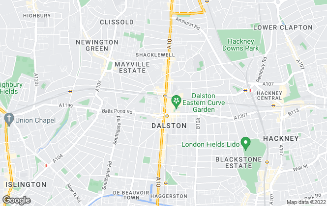 Map for Douglas Allen, Dalston