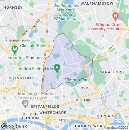 Map of property in Hackney