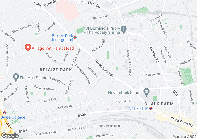 Map for Haverstock Hill, Belsize Park, London