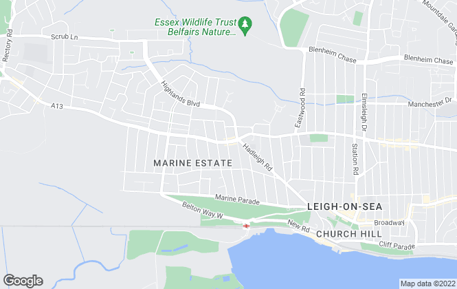 Map for Town & Country Estate Agency, Leigh-on-Sea