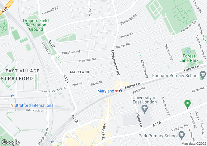 Map for Maryland Street