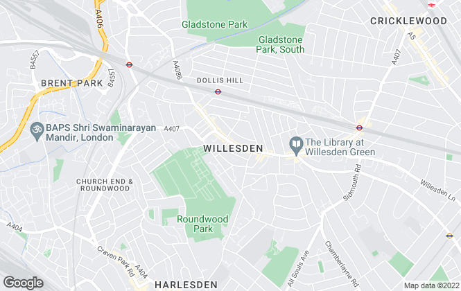 Map for Milestone Estate Agents, London
