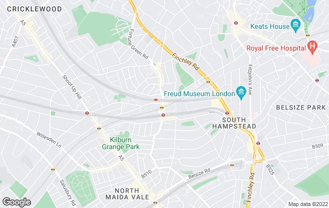 Map for Greene & Co, West Hampstead