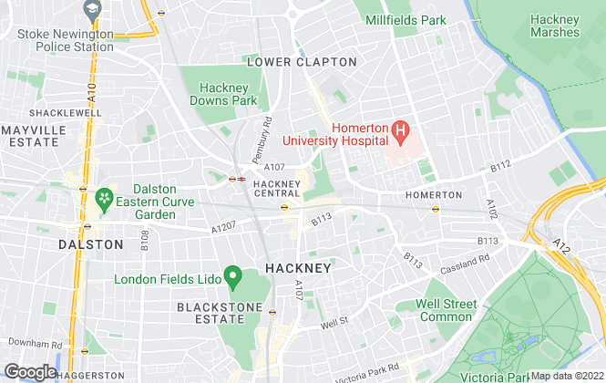 Map for Bunch & Duke , Hackney