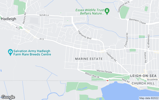Map for Hair & Son LLP, Leigh-on-Sea - Thames Drive