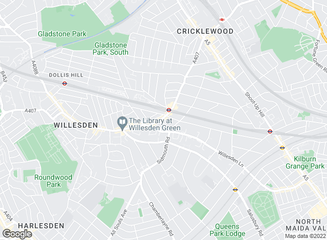 Map for Bairstow Eves, Willesden Green
