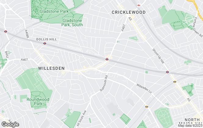 Map for Ellis & Co, Willesden Green