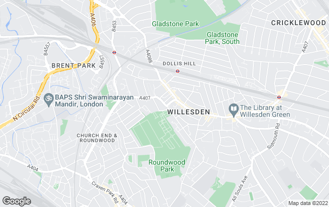 Map for 99home.co.uk, Willesden