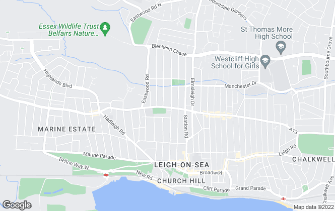 Map for Gilbert & Rose, Leigh-on-sea
