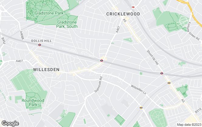Map for Winkworth, Willesden Green