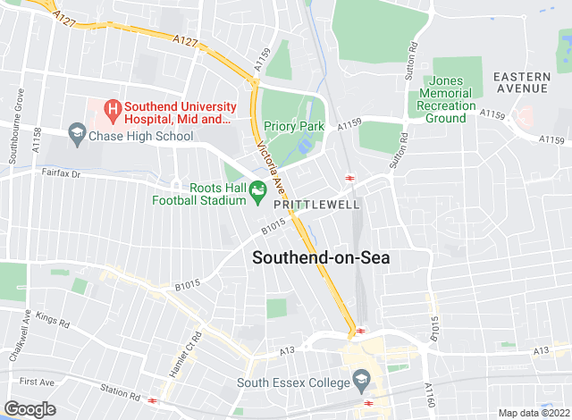 Map for Tudor Estate Agency, Southend-on-Sea