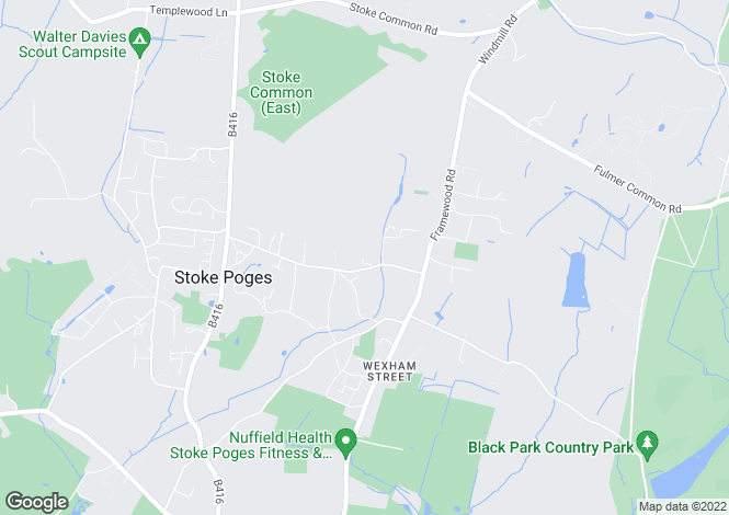 Map for Hollybush Hill, Stoke Poges, Bucks, SL2