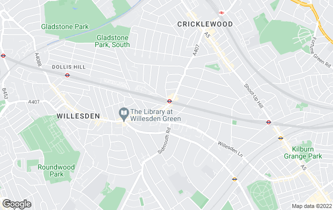 Map for parkinsonfarr, Willesden Green