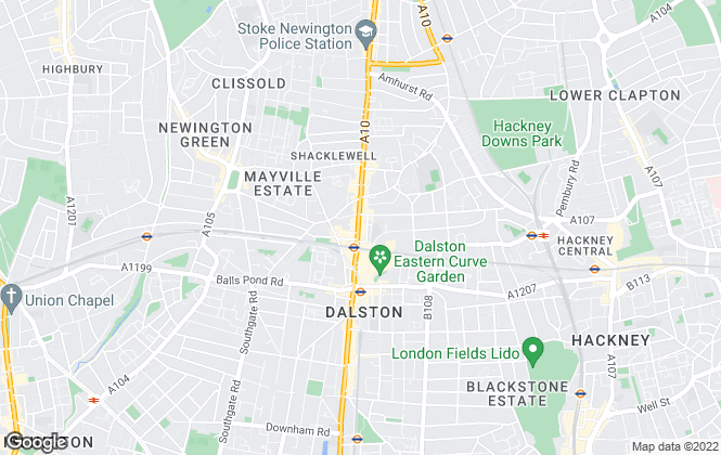Map for Wex & Co Estate Agents, Dalston