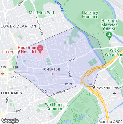 Map of property in Homerton