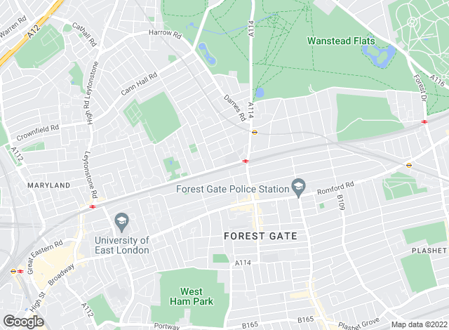 Map for YOUR MOVE, Forest Gate