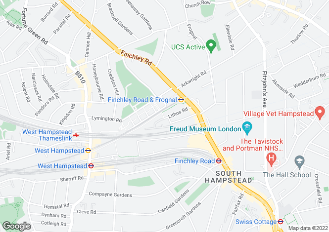 Map for Lithos Road, Hampstead, London, NW3