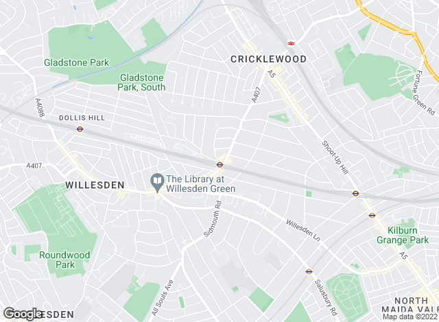 Map for Foxtons, Willesden Green