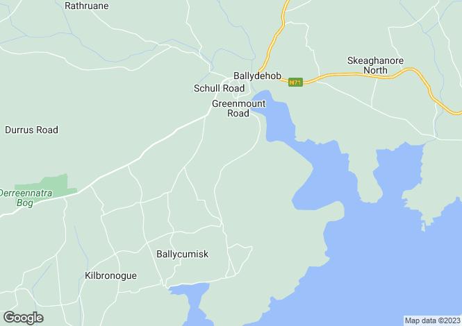 Map for Ballydehob, Cork
