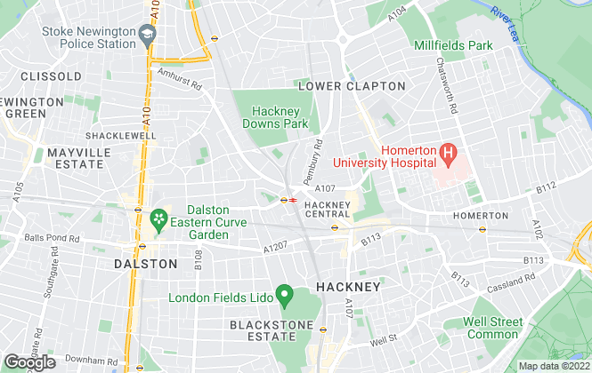 Map for Hotspots Estate Agents, Hackney