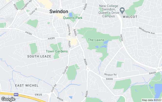 Map for Ashcox & Stone, Swindon
