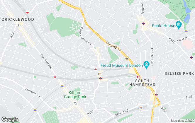 Map for Goldschmidt & Howland, West Hampstead - Lettings