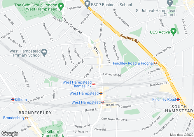 Map for Elmcroft Garages, 254 West End Lane, West Hampstead
