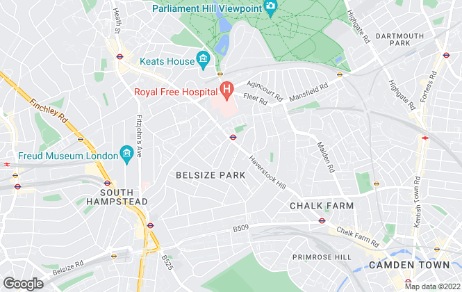 Map for Greene & Co, Belsize Park
