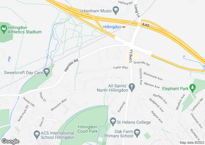 Map for Tudor Way, Hillingdon, Middlesex, UB10