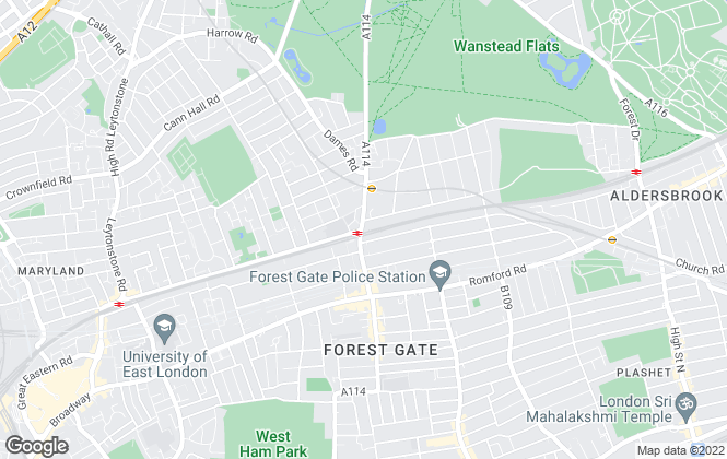 Map for Portico, Forest Gate