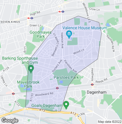 Map of property in Becontree