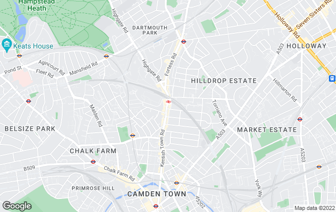 Map for Chestertons Estate Agents , Kentish Town Lettings