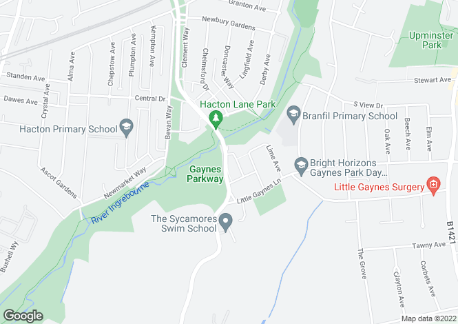 Map for Hacton Lane,