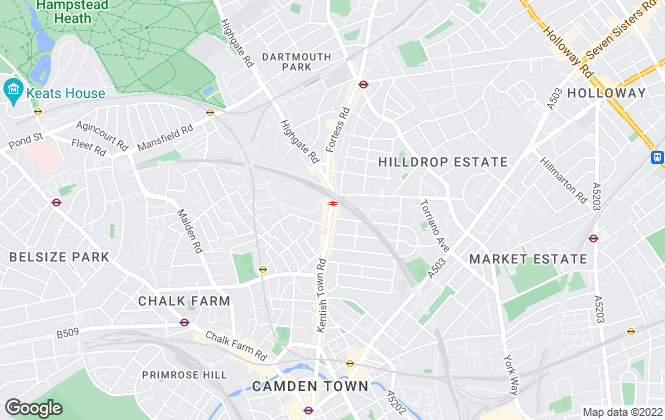 Map for Chestertons Estate Agents , Kentish Town