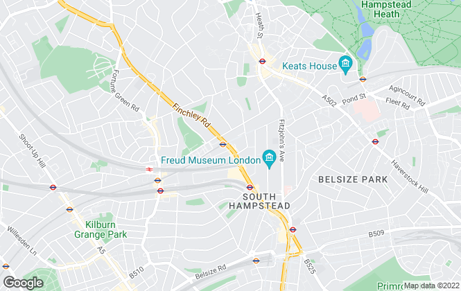 Map for Des Res, Belsize Park, Lettings