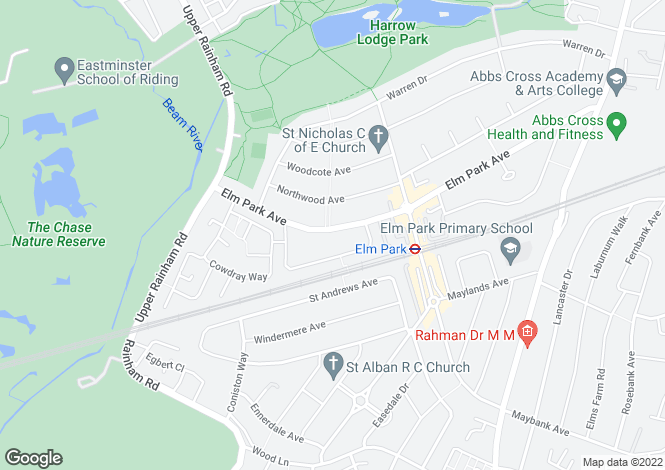 Map for Elm Park Avenue,