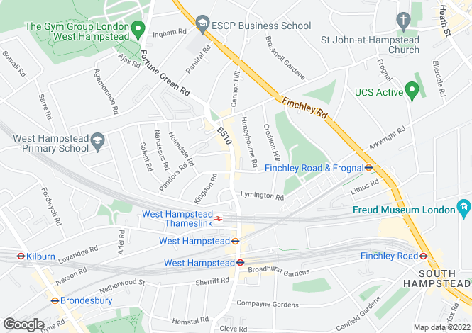 Map for Fawley Road, West Hampstead, NW6