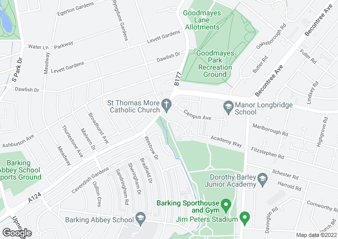 Map for The Turner  at Academy Central, Longbridge Road,
