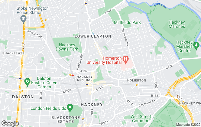 Map for Winkworth, Hackney