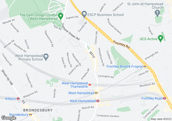 Map for Inglewood Road, West Hampstead, NW6