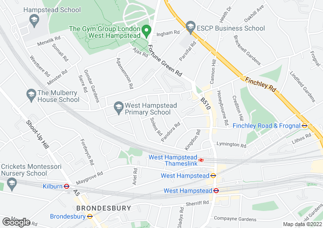 Map for Narcissus Road, West Hampstead, London, NW6