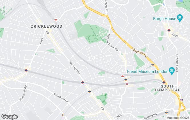 Map for Michael Leonard Estates, London