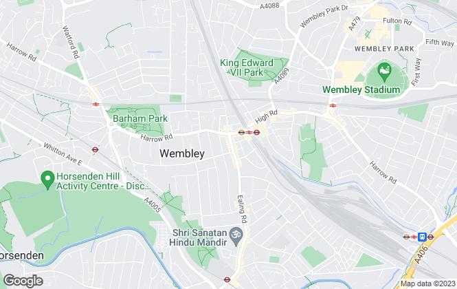 Map for Ellis & Co, Wembley