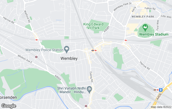 Map for Ellis and Co, Wembley