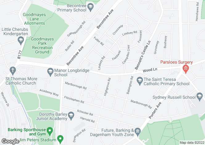 Map for Roehampton 214 at Academy Central, Lodge Avenue,