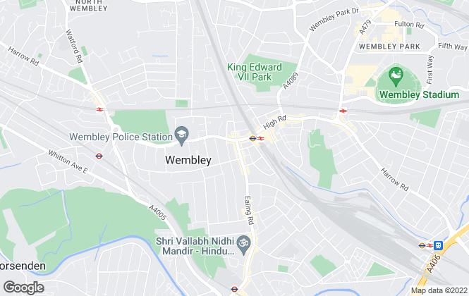 Map for Ellis & Co, Wembley