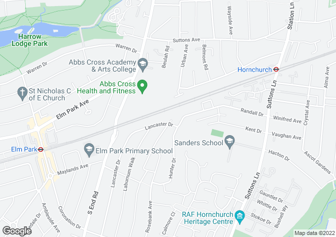 Map for 4 bedroom Semi-Detached Flat in Hornchurch