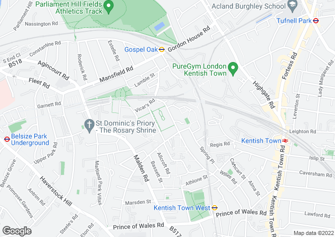 Map for Grafton Road, Kentish Town, London, NW5 4BH